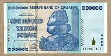 Zimbabwe 100 Trillion Dollar EXTREMELY LOW Serial AA00...VF Money Inflation