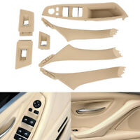 Interior Door Handle Power Window Switch Overlay Cover Set RHD For 2005-2008 E90 E91