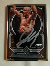2017 TOPPS UFC MUSEUM. GEORGES ST PIERRE. GSP. 3/5. GOLD FRAMED AUTO.