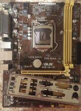 ASUS Micro ATX DDR3 LGA 1150 Motherboard H81M-C rev 1.02 with i/o