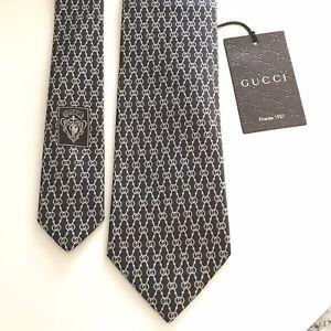 Gucci New $220 GG Logo Silk Tie Necktie
