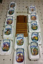 Winnie the Pooh Bear Perpetual Wood Calendar Plates Tiles Bradford Exchange
