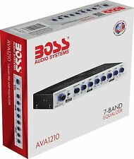 Car Audio Equalizer BOSS AVA1210 7 Band Pre Amp Half DIN Subwoofer Level Control