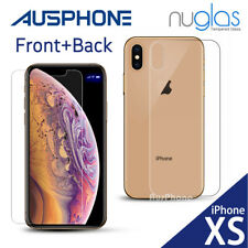 iPhone XS Max XR X - 2X Genuine NUGLAS Tempered Glass Screen Protector for Apple