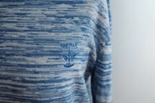 Firetrap Blue White Marl Cotton Lightweight Sweater Layer Size Large 14