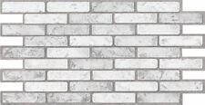 PVC Plastic Wall Panels 3D Decorative Tiles Cladding - BRICK LIGHT