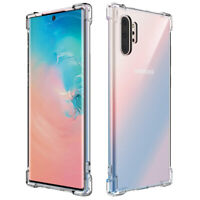 Shockproof 360 Clear Silicone Soft TPU Case Cover For Samsung Note 10/10 Plus S9