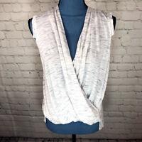Akemi+Kin Women's Anthropologie Wrap Blouse Sleeveless Neutral Size XS