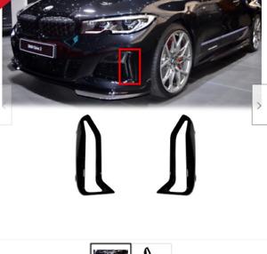 Genuine BMW 3' G20 G21 M340i Front Bumper Side Grille Black Trim Pair Set