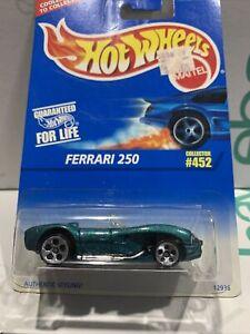 Hot Wheels Ferrari 250 [green] VINTAGE BLUE CARD RARE HTF UNOPENED SEALED !!!! !
