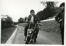 PHOTO ANCIENNE - VINTAGE SNAPSHOT - MOTO MOTOCYCLETTE CHAPPY MOTO - MOTORCYCLE