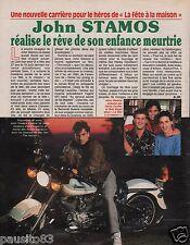 Coupure de presse Clipping 1990 John Stamos (1 page)