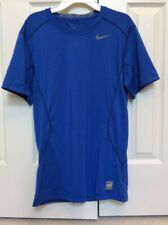Nike Pro Combat Fitted Short Sleeve Shirt Royal Blue 449787-495 Men's Small