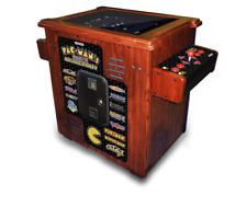 Pacman's Pixel Bash Cocktail Sit Down Wood Cabinet Arcade Game – Pinball Pro