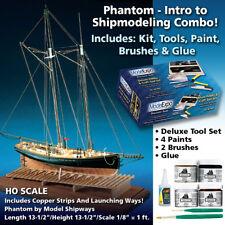 Phantom Pilot Boat Ship Modeling Starter Kit with Tools, Paint, Brushes & Glue