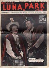 rivista fotoromanzo - LUNA PARK - Anno 1949 Numero 49 OLGA VILLI E F. LATIMORE