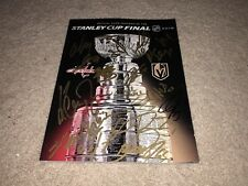 2017-2018 WASHINGTON CAPITALS TEAM SIGNED STANLEY CUP HOCKEY PROGRAM COA CHAMPS
