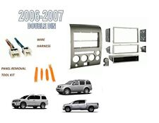 Fits NISSAN TITAN PATHFINDER ARMADA 2006-2007 2 DIN STEREO DASH KIT,WIRE HARNESS