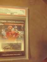 2007 Topps Ryan Howard #HARH PSA 7  Autograph  Phillies MVP  Highlights card