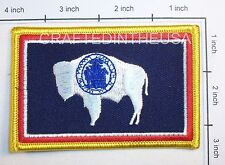 Wyoming State Flag Embroidered Patch Sew Iron On Biker Vest Applique Emblem New