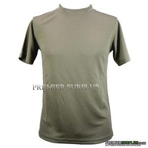 Genuine British Army Light Olive Coolmax T-Shirt Size Medium, NEW
