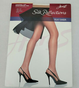 New Hanes Silk Reflections Silky Sheer CD Little Color 718 Panty Hose Nylons