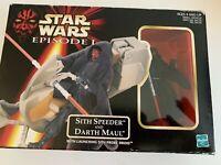 Star Wars Episode 1 Darth Maul Sith Attack Speeder figure Vehicle NIP Hasbro
