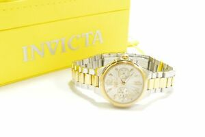 Invicta 29150 Angel Silver Dial Two Tone Stainless Steel Chronograph Ladies W...