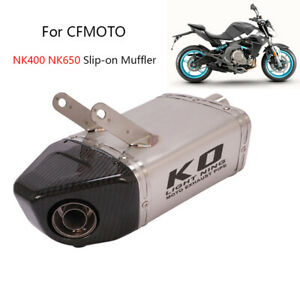 For CF-Moto NK400 NK650 Exhaust Pipe Motorcycle Slip-on Muffler with DB Killer