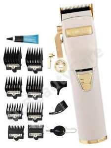 BaByliss Pro WhiteFX Lithium White/Gold Barber Hair Clipper/BabylissPro Trimmer