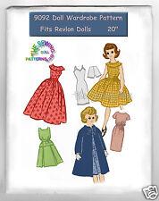 "Fits Miss Revlon & other similar Dolls 20"" Doll Pattern Wardrobe 9092"