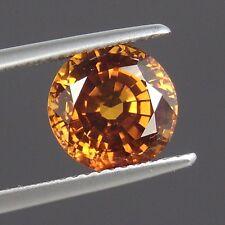 SO094 / 4.40 cts. VVS 100% UNHEATED Golden Orange Sapphire VERY RARE COLOR !!