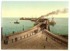 6 Victorian Views Dover Castle Pier White Cliffs Shakespeares Repro Old Photos
