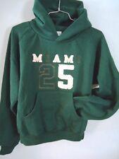 JANSPORT University Miami Sweatshirt Boys Medium Logo Quality Hoody Dark Green