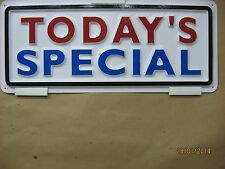 TODAY'S SPECIAL 3-D Embossed Plastic Sign 5x13, Restaurant Club Sale Price