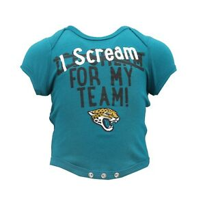 Jacksonville Jaguars NFL Official Apparel Infant Baby Creeper Bodysuit New Tags