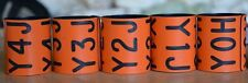 (5) ORANGE SPECKLEBELLY WHITEFRONT GOOSE NECK COLLAR BANDS GOOSE BAND DUCK BAND
