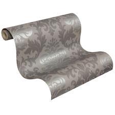 Luxus Retro Barock Tapete 148213 Lounge Ornament Tapete silber grau (2,80?/1qm)