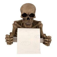 Totenkopf Toilettenpapierhalter 19cm Schädel Totenköpfe Gothic Skull Knochen NEU