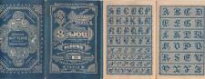 Ancien authentique album SAJOU N°56 marques broderie abécédaires / bleu