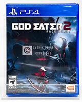 God Eater 2 Rage Burst - PS4 - Brand New   Factory Sealed