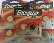 Energizer CR2032 3V DC Lithium  Watch/Electronic Batteries - 2 each pk x5
