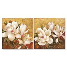 Framed Magnolia Flowers Floral Giclee Wall Art Painting Canvas Prints Home Decor