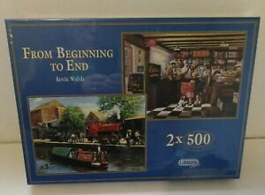 Gibsons From Beginning To End by Kevin Walsh 2 X 500 Piece Jigsaw Puzzles Sealed