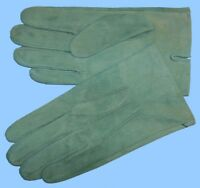 NEW MENS size 9 or Large GREEN SUEDE UNLINED LEATHER GLOVES shade-10521