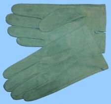 NEW MENS size 8 or Small GREEN SUEDE UNLINED LEATHER GLOVES shade-10521