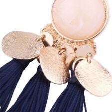 Blue Women Tassel Earrings Dangle Alloy Resin Bohemian Fashion Pendant HIGH