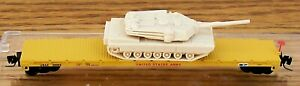 Z SCALE~REL: 3-2010 MICRO-TRAINS MTL UNITED STATES ARMY w/ TANK LOAD  RD# 36005