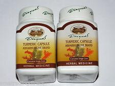 Turmeric Capsules x2 Curcumin Curcuma Longa Linn  95% Curcuminoid   Antioxidant