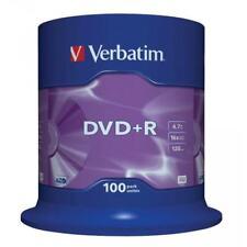 """DVD+R 16x Verbatim """"Matt Silver Azo"""" Tarrina 100 uds"""